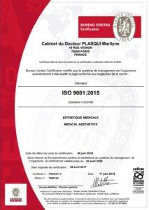 certificat ISO9001 ARTHESTIC